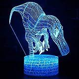 Xiaomu Weihnachtsnachtlicht-Tischlampe entzückender Jurassic 3D Weihnachten-Weihnachtsnotizsteuerung 3D