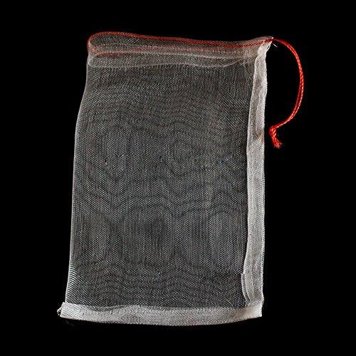 10pcs / lot garten töpfe pflanzgefäße wachsen taschen gegen insektenschädling vogel pflanze obst schützen kordelzug netto tasche(35x25 cm) - Null-netto