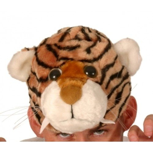 Tiger Tier hat - Neuheit Fancy Dress Party hat (Tiger-kostüm Realistische)