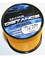 Ultima Unisex e5272Rango de larga distancia Casting y mar pesca línea, fuego naranja, 0,33mm-12.0LB