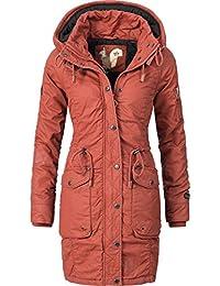 Khujo Damen Mantel Wintermantel Winterparka Baumwollparka YM-Mell (vegan hergestellt) 5 Farben XS-XXL