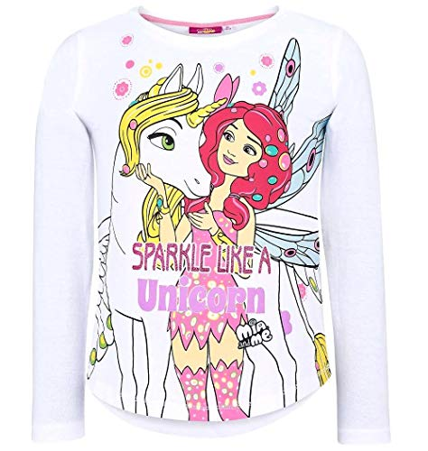 Kinder Minnie Pyjama Kostüm - Mia and Me Langarmshirt Kollektion 2018 Shirt 98 104 110 116 122 128 134 140 146 152 Onchao Top Weiß (Weiß, 116)