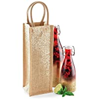 Westford Mill Shimmer Jute Bottle bag Gold Shimmer particolare discussione