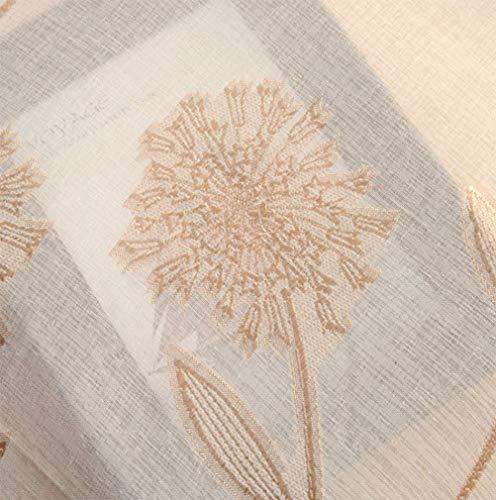 Blanc À Œillets Brodé Rideaux Voilage Pourle Salon Rideau De Rideau En Tissu De Tulle Pour Enfant En Chambre Salon,Brass,200 * 280