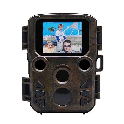 Niocase 1080P HD Tracker Wildkamera, Full HD Jagdkamera Fotofalle 20m Nachtsicht IP66 Wasserdicht 0,4 Sekunden Auslösezeit, Tierkamera 70 Degree Weitwinkel für Tieren