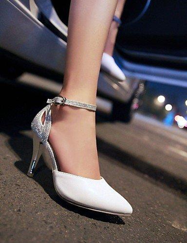WSS 2016 Chaussures Femme-Mariage / Habillé-Bleu / Rose / Blanc-Talon Aiguille-Talons / Bout Pointu-Talons-Cuir Verni / Paillette pink-us5.5 / eu36 / uk3.5 / cn35