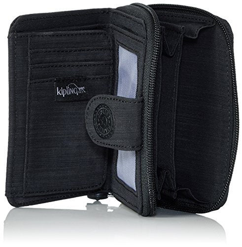 Kipling New Money, Portafogli Donna, One Size Nero (REFH53 Dazz Black)