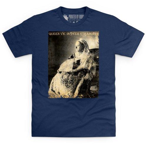 Dyer Straights T-Shirt, Herren Dunkelblau