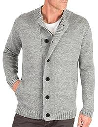 Wool Overs Gilet Homme à fermeture éclair et boutons Pure Laine