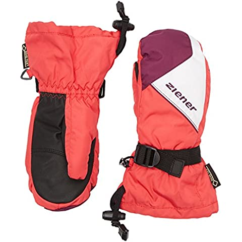Ziener Laurids GTX (R) Mitten Glove Junior guanti da sci, Bambini, LAURIDS GTX(R) MITTEN glove junior, pink orchid, Set da 3 - Pink Junior Set