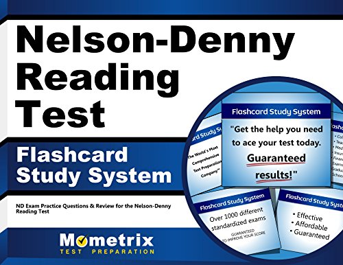 Nelson Denny Reading Test Flashcard Study System Nd Exam Practice Questions Review For The Nelson Denny Reading