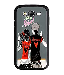 Fuson Perfect Couple Back Case Cover for SAMSUNG GALAXY A7 - D3943