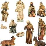 Krippenfiguren, Krippenfiguren orientalisch 12tlg. Für 15cm Figuren (44635092042)