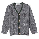 Almsach Jungen Trachten-Mode Strickweste Berti für Kinder in Anthrazit traditionell, Farbe:Anthrazit, Größe:140/146