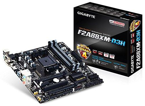 Gigabyte GA-F2A88XM-D3H Mainboard Sockel FM2+ (Micro-ATX, AMD A88X, 4X DDR3-Speicher, 8X SATA III, HDMI, DVI-D, 2X USB 3.0) (Gigabyte Fm2-motherboards Von)