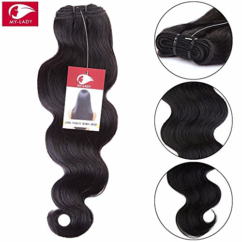 My-lady 7a 100g 60cm extension matassa tessitura mossi brasiliano vergine unprocessed 100% human hair remy capelli veri body wave