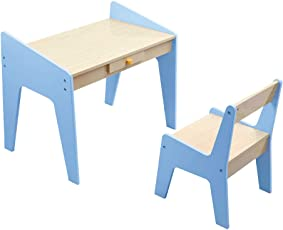 KIDOMATE Study Table & Chair for Toddlers and Kids - Blue (Age Group 1-5 Yrs)