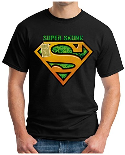 OM3 - SUPER-SKUNK - T-Shirt GEEK, S - 5XL Schwarz