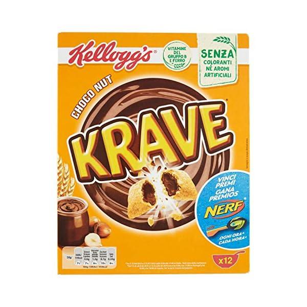 Kellogg's Krave Cereali al Cioccolato, Vitamine B, Ferro - 375 gr 1 spesavip