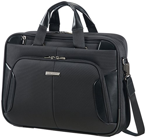 "Samsonite XBR Borsa Messenger Slim 1C, 15.6"" Cartella, Poliestere, Nero, 17 ml, 44 cm"