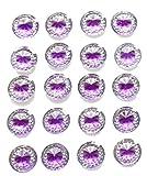 80x selbstklebende rund lila Diamant Strass Acryl Kristalle Stick auf Gems für Karte machen, Handwerk, Hochzeit Einladungen
