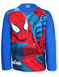 BOYS T-SHIRT TOP SPIDERMAN RED