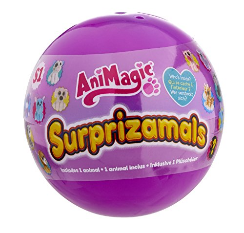 Animagic Surprizamals Collectable Mystery Ball with Plush Toy Inside