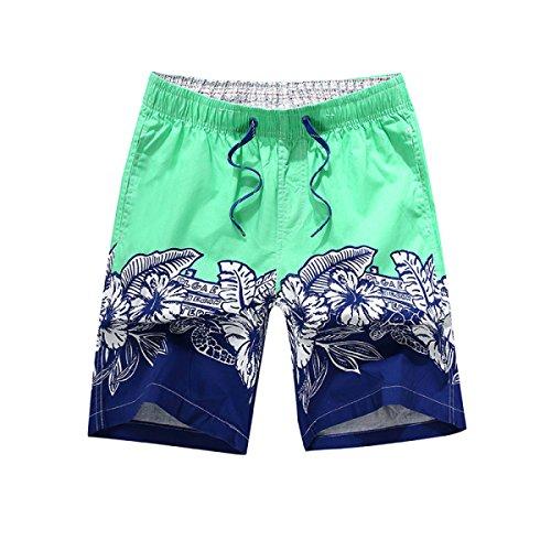 Vêtements Hommes Quick Dry L'été La Plage Les Loisirs L'impression Swim Trunk Tailles Et Couleurs Assorties G