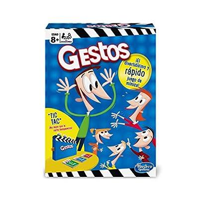 Hasbro Gaming-GESTOS, Jeux de Table Version espagnole Multicolore (Hasbro b0638105)