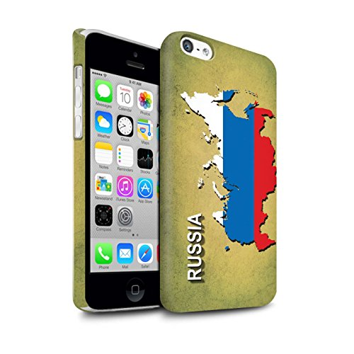 STUFF4 Matte Snap-On Hülle / Case für Apple iPhone 7 Plus / Deutschland/Deutsch Muster / Flagge Land Kollektion Russland/Russisch