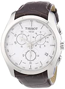 tissot herren t0356171603100 couturier silber edelstahl chronograph uhr mit braunem lederband. Black Bedroom Furniture Sets. Home Design Ideas