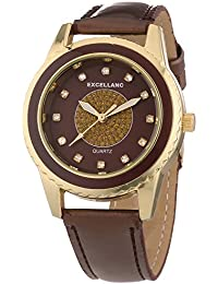 Excellanc Damen-Armbanduhr Analog Quarz verschiedene Materialien 195007000165