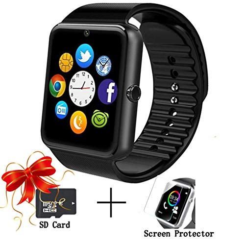 Smart Watches,bluetooth Smartwatch Unlocked Watch Phone Call and Text with Touchscreen Camera Notification Sync Compatible with Android and IOS