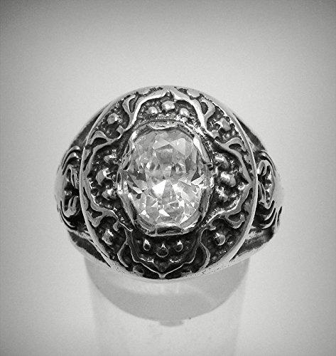 Sterling silber herren ring Skorpion mit CZ solide 925 Empress Größe 52 - 75 R001231