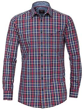 Casa Moda Hemd Comfort Fit Karo rot Button-Down extra lang 72