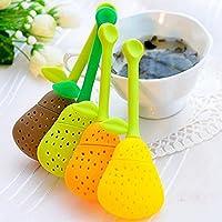Generic Green : Big Sale Silicone Pear Design Tea Leaf Strainer Herbal Spice Infuser Teacup Teapot Spice Filter Tea Tool 4 Colors
