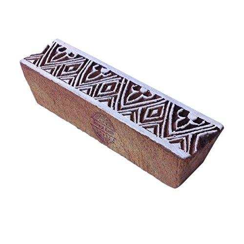 Royal Kraft Attraktiv Geometrisch Motif Bordüre Holz Drucken Textil Stempel