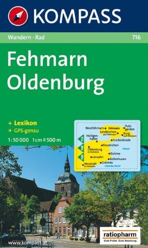Fehmarn, Oldenburg: 1:50.000, Wander- und Bikekarte, GPS-genau