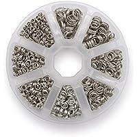 Schlüsselringe Set 4-10mm Durchmesser Farbe Platin