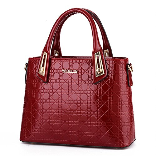 (G-AVERIL) Borse In Vera Pelle Designer Top-Handle Spalla Del Tote Della Borsa Per Le Donne