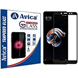 AVICA® Edge To Edge Full Glue Black 5D Curved Full Front Body Covered Tempered Glass Screen Protector For Xiaomi Redmi Note 5 Pro/Mi Note 5 Pro (2018)
