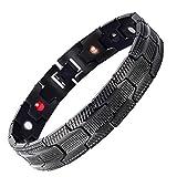 Armband, Barlingrock Therapeutische Energieheilung Armband Edelstahl Magnetfeldtherapie Armband Länge 21 cm Kette Armband Herrenmode