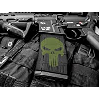SHIELD MagCover, MagSkin, GunSkin, Magazin Pegatinas para Magpul y Todos los Cargadores compatibles AR15 / M4, Punisher Oliva, 5 Unidades
