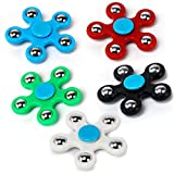 #2: Gifts Online Ultra Speed Fidget Spinner, Tri-Spinner, Hand Spinner Focus Toy Long Running Time 5 Balls - Assorted Colours