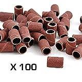 DOBO® 100 scovolini cilindri abrasivi nail art manicure ricambi fresa ricostruzione unghie estetica