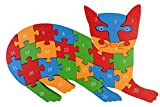 PIGLOO Wooden Cat Puzzle Toy with A-Z Al...