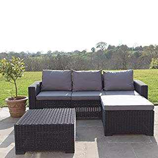 Allibert California Corner Sofa & Table - Graphite