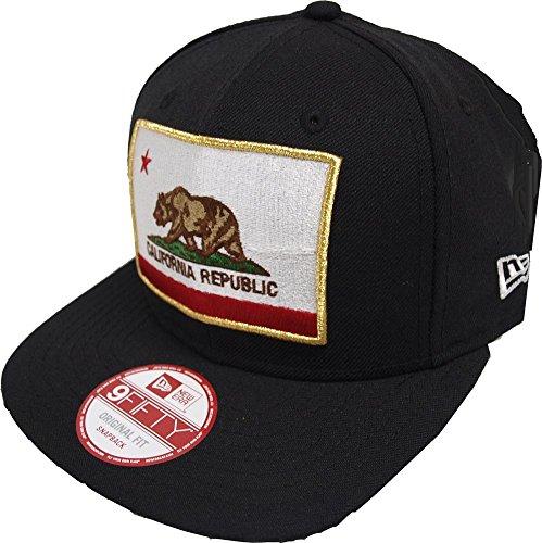 Preisvergleich Produktbild New Era California Edition Cali Flag Black Snapback Cap Kappe 9fifty Basecap Men