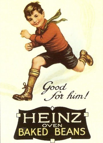 SIGNS 2 ALL S1353Small Heinz oven Baked Beanz metal Advertising Wall Sign Retro Art
