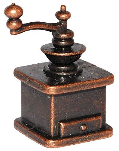 Unbekannt Kaffeemühle - aus Metall / Gusseisen - Miniatur - Maßstab 1:12 - für Puppenstube -...